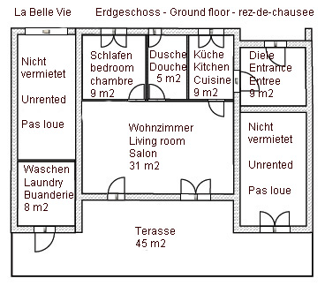 """La Belle Vie"" - ground floor plan"